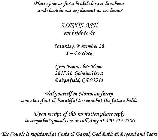 Cute Wedding Invitation Wording Samples: Bridal Shower Invitation Wordings