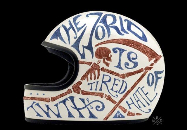 Collection privée de casques moto. studio de graphisme BMD