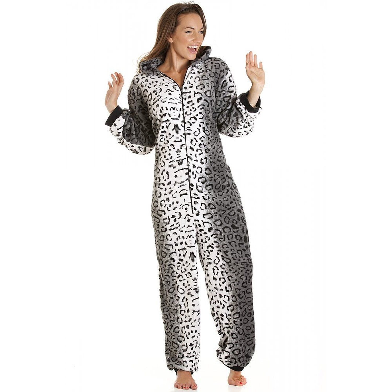Camille - Combinaison pyjama en polaire - imprimé léopard des neiges -  femme - tailles 36 à 50  Camille  Amazon.fr  Vêtements et accessoires feb3857daca
