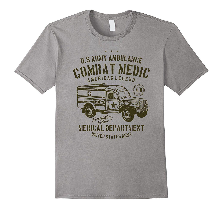 Vintage Army Ambulance Combat Medic Department T Shirt | Combat ...
