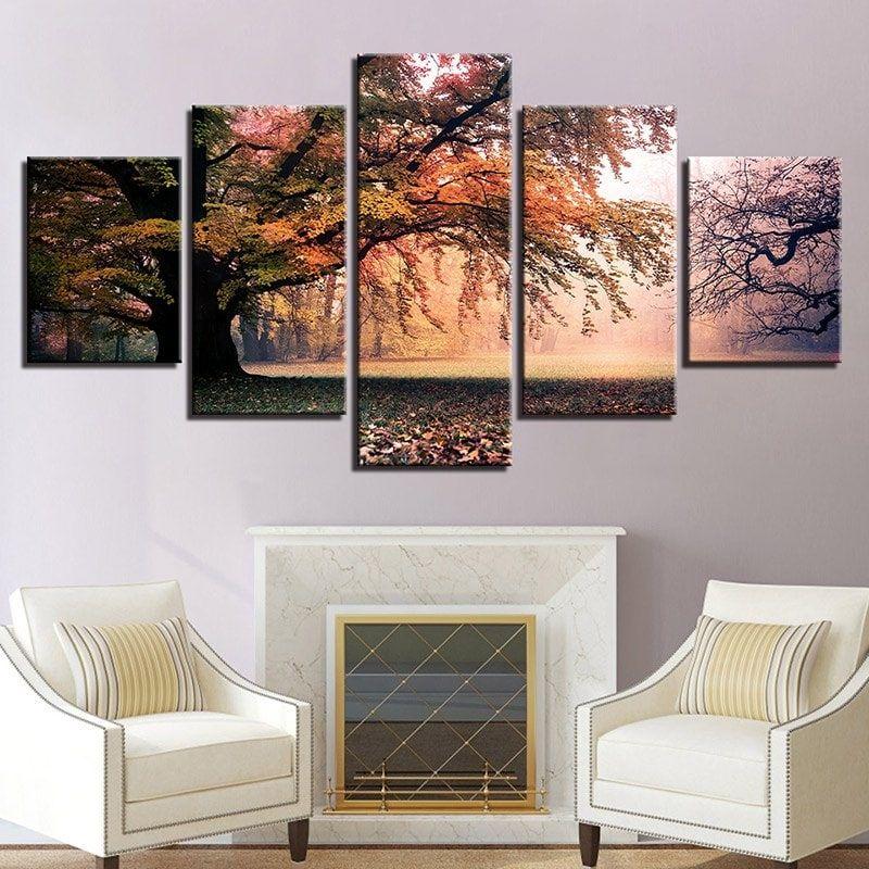 Forest Grassland Print Split Canvas Wall Art Paintings Wall Art Painting Canvas Wall Art Canvas Painting