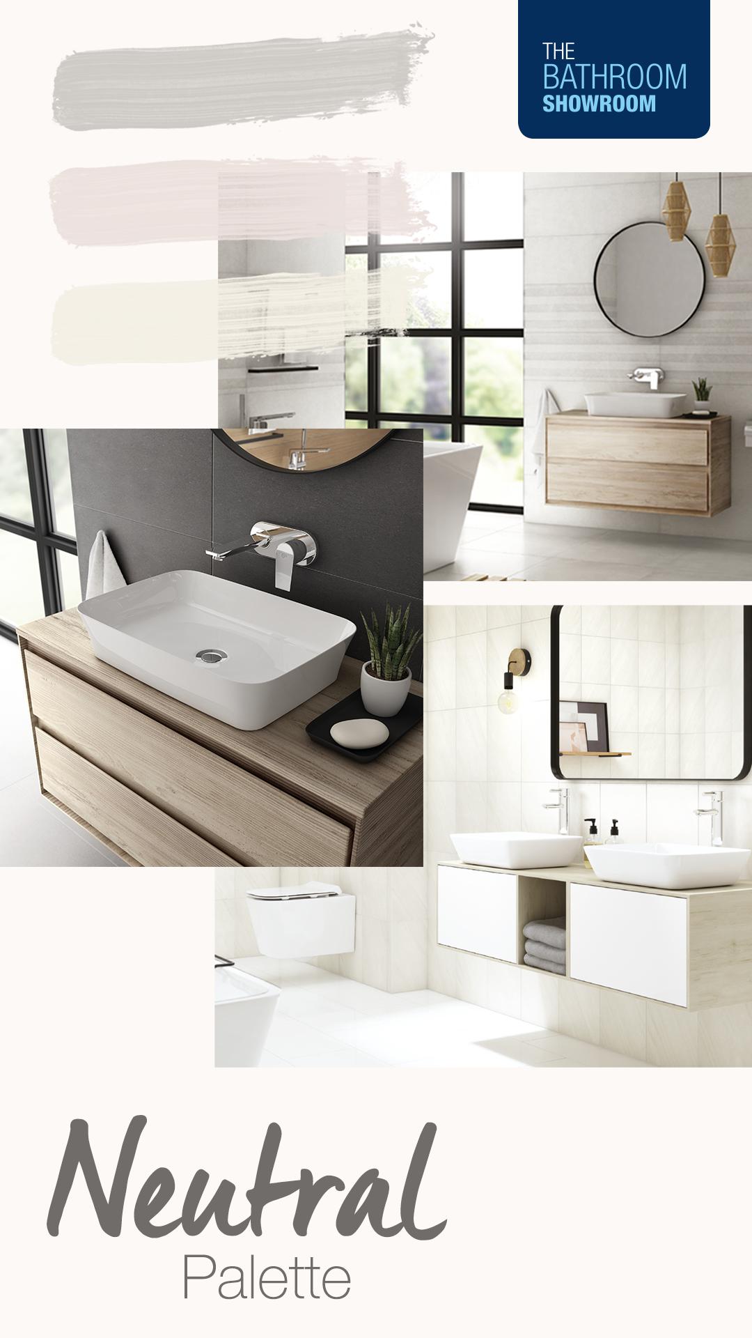 Neutral Palette Mood Board Latest Bathroom Trends Bathroom Showrooms Bathroom Trends