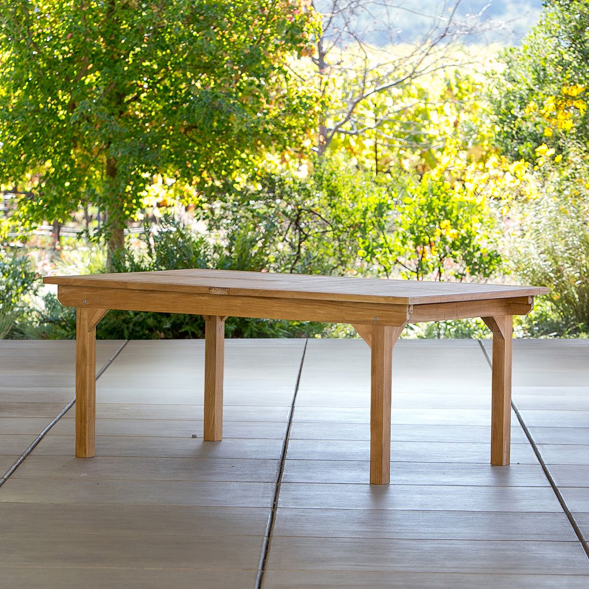 Madera Teak Extension 2 Table 72 108 Terra Outdoor Living Teak Table Outdoor Outdoor Wood Furniture Teak Outdoor Furniture
