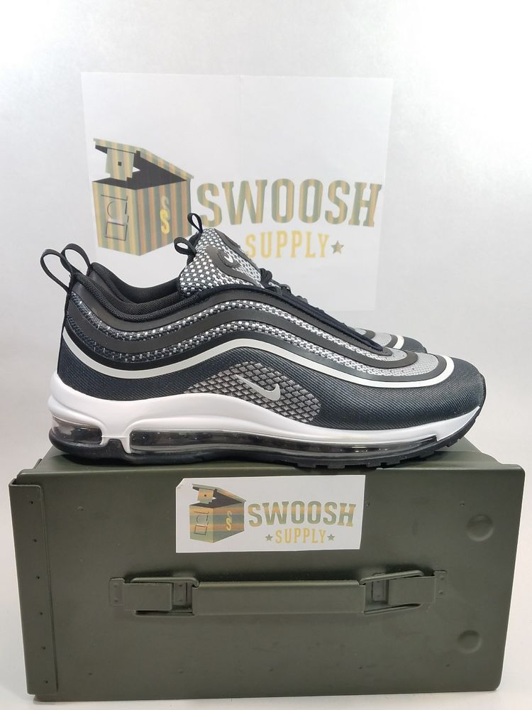 Details about Nike Air Max 97 Ultra '17 Black White Silver