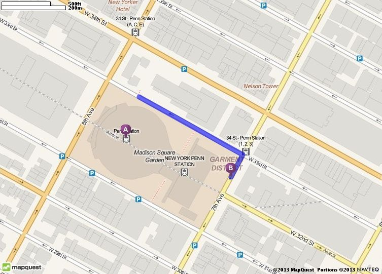 Walking Directions From Penn Station In New York New York To