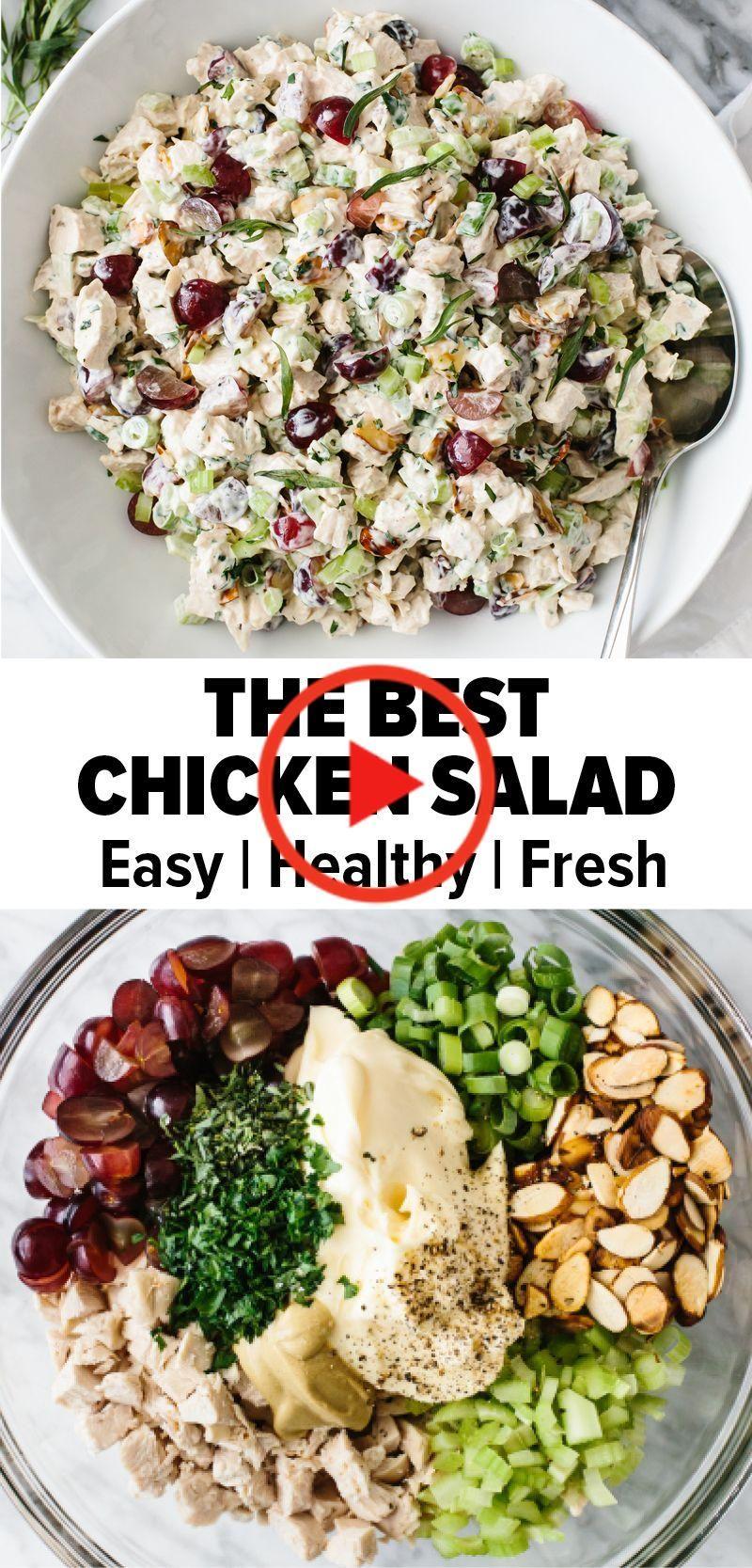 Das beste Chicken Salat Rezept   Best chicken salad recipe ...