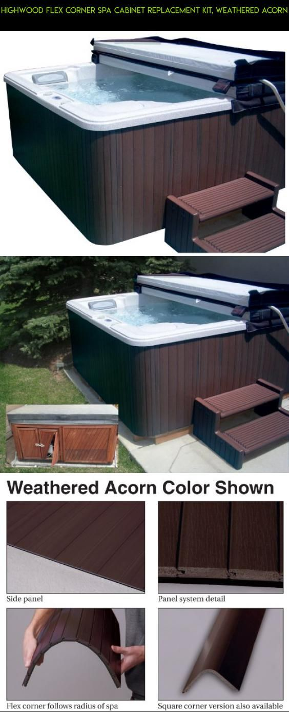 Highwood Flex Corner Spa Cabinet Replacement Kit, Weathered Acorn ...