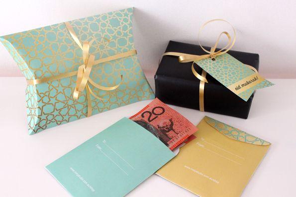 Pillow Box Basteln free printable eid gift giving pillow box printable eid