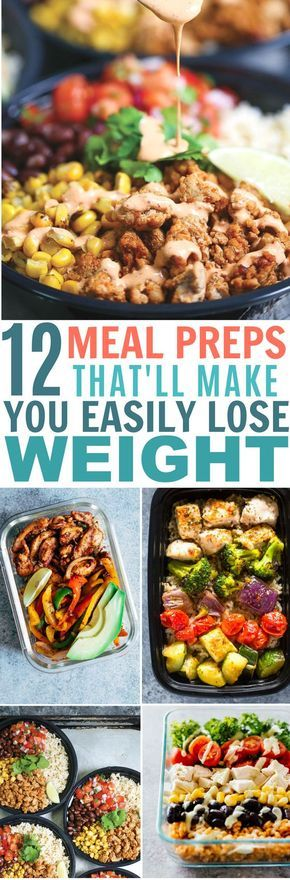 Meal Prep Lunch Ideas for Weight Loss That're so Easy #weeklymealprep
