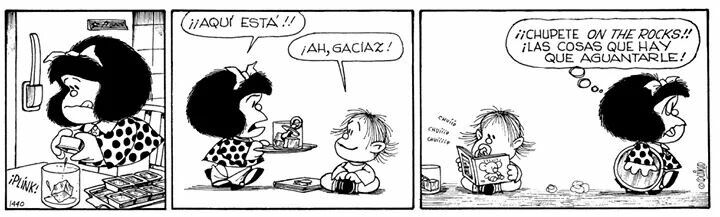 Chupete on the rocks | Mafalda, Mafalda quino, Buenos hermanos