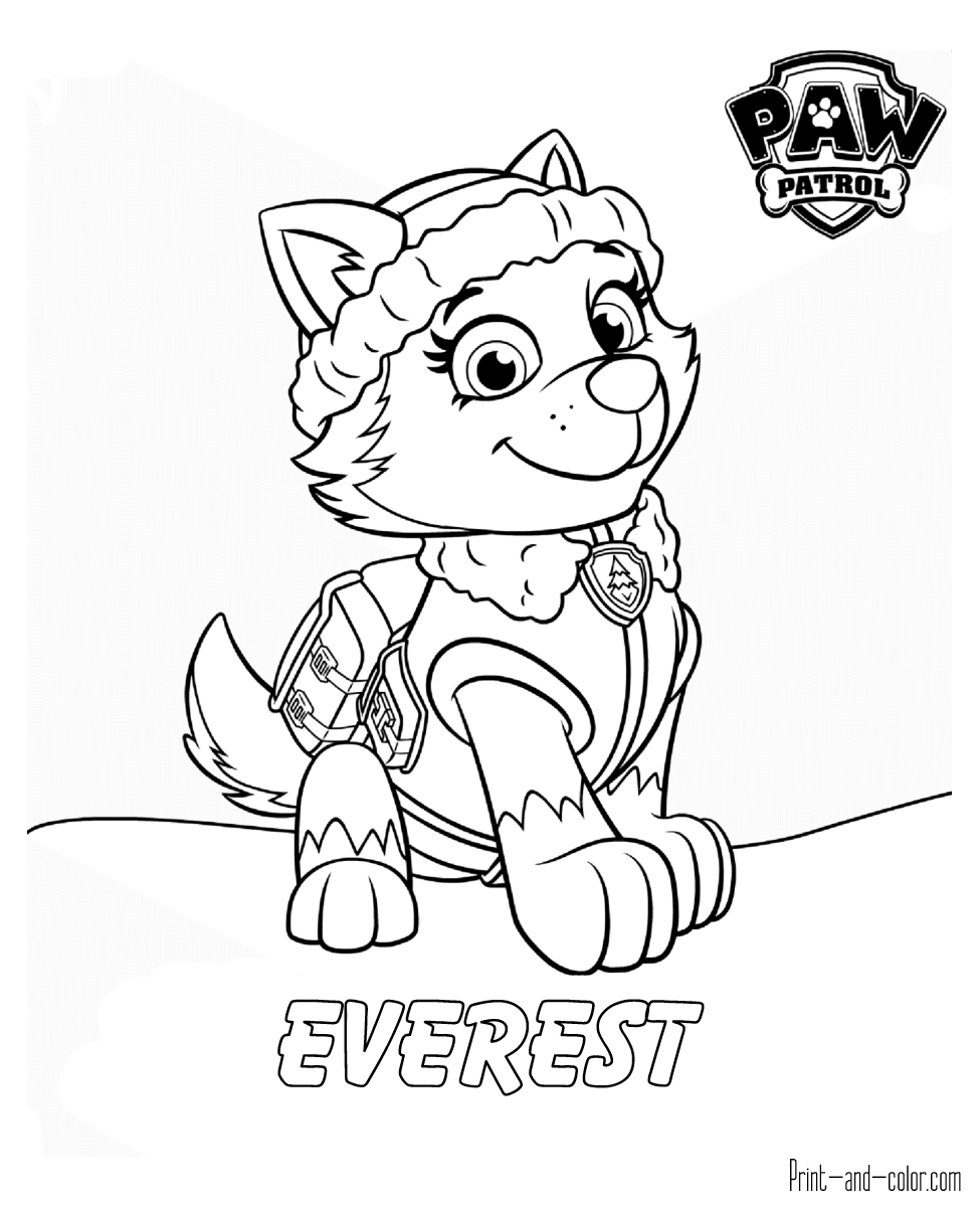 Ausmalbilder Paw Patrol Sky : Paw Patrol Coloring Pages Print And Color Com Coloring Pages For