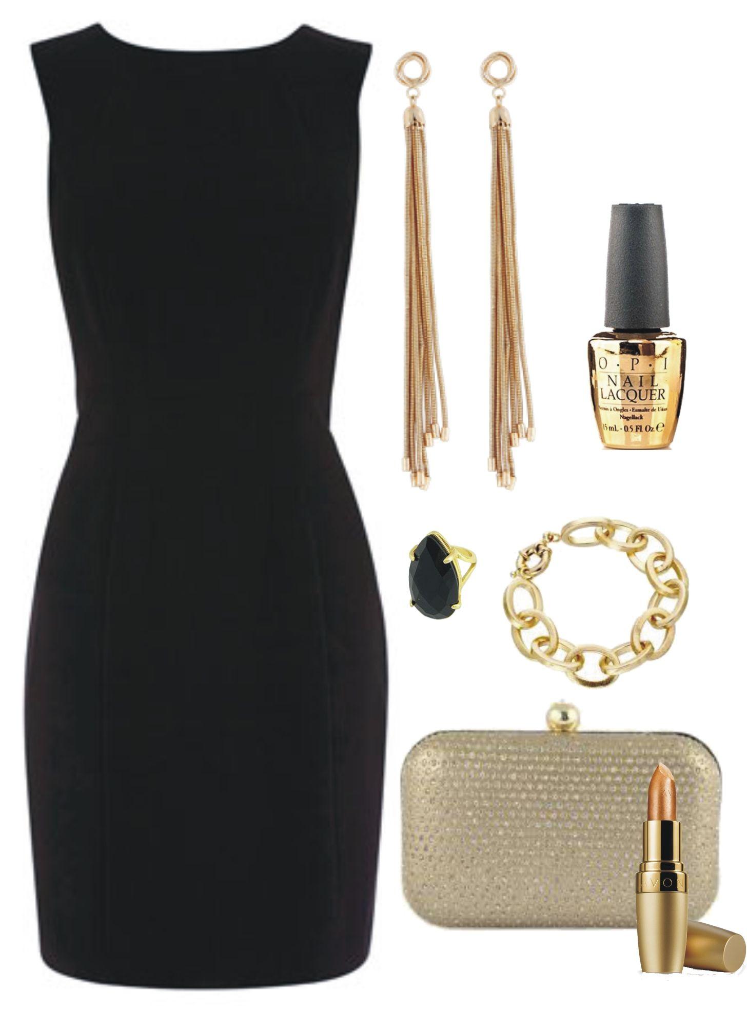 Look Clássico e Elegante c/ tubinho preto para a noite. #lookclássico #look