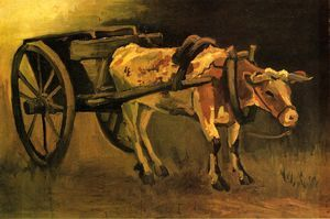 Cart with Red and White Ox, 1884 Oil on canvas