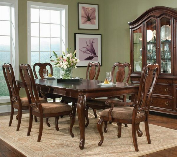 Country Dining Room Decorating Ideas: Warm Solid Wooden Country Dining Room Furniture Decorating
