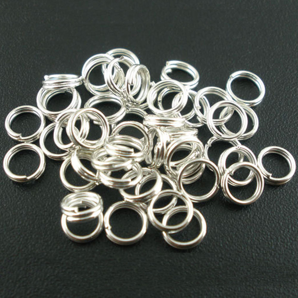 Lots Silver Double Loop Split Open Jump Rings Connector Findings Craft 4-14MM