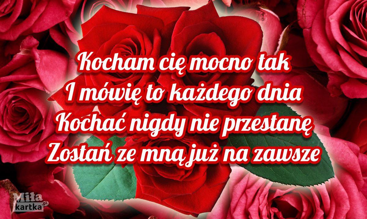 Kocham Cię Mocno Tak Miłość Kochanie Kartki Walentynki