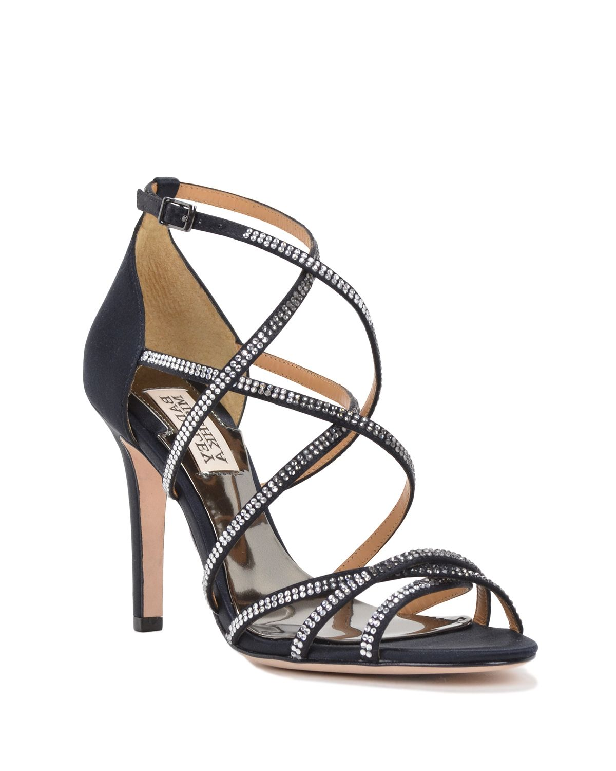 9735a3e3fe4 Badgley Mischka Meghan Strappy Evening Shoe in Black