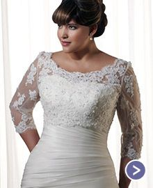 Plus Size Wedding Dresses And Bridal Accessories For Fuller Figure Brides