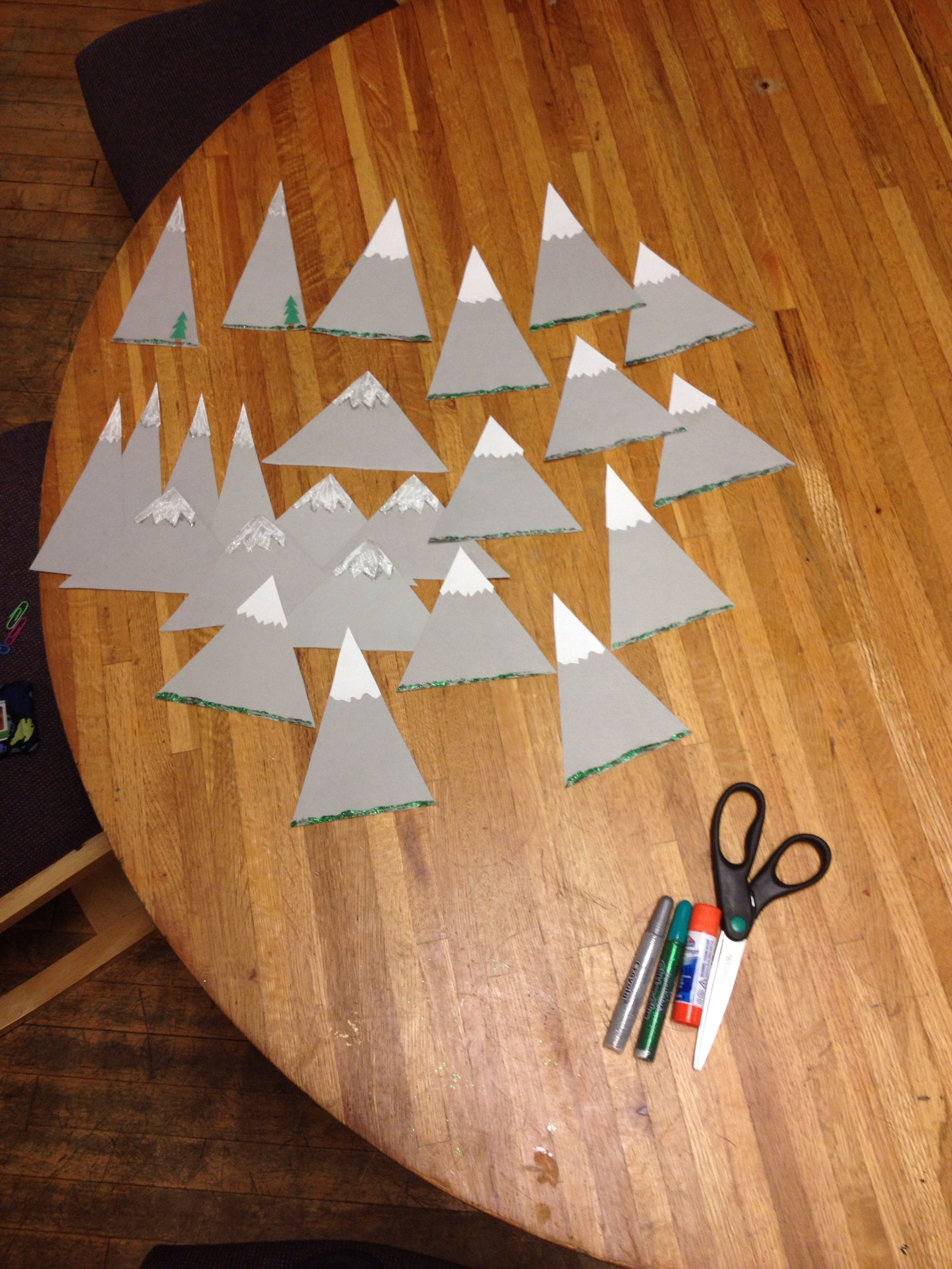 Mountain door decs & Mountain door decs | R A | Pinterest | Door decs Mountains and Doors Pezcame.Com