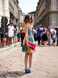 Moschino  Crocet Dress, Tod's Signature Bag, Stefanel  Hight Heels