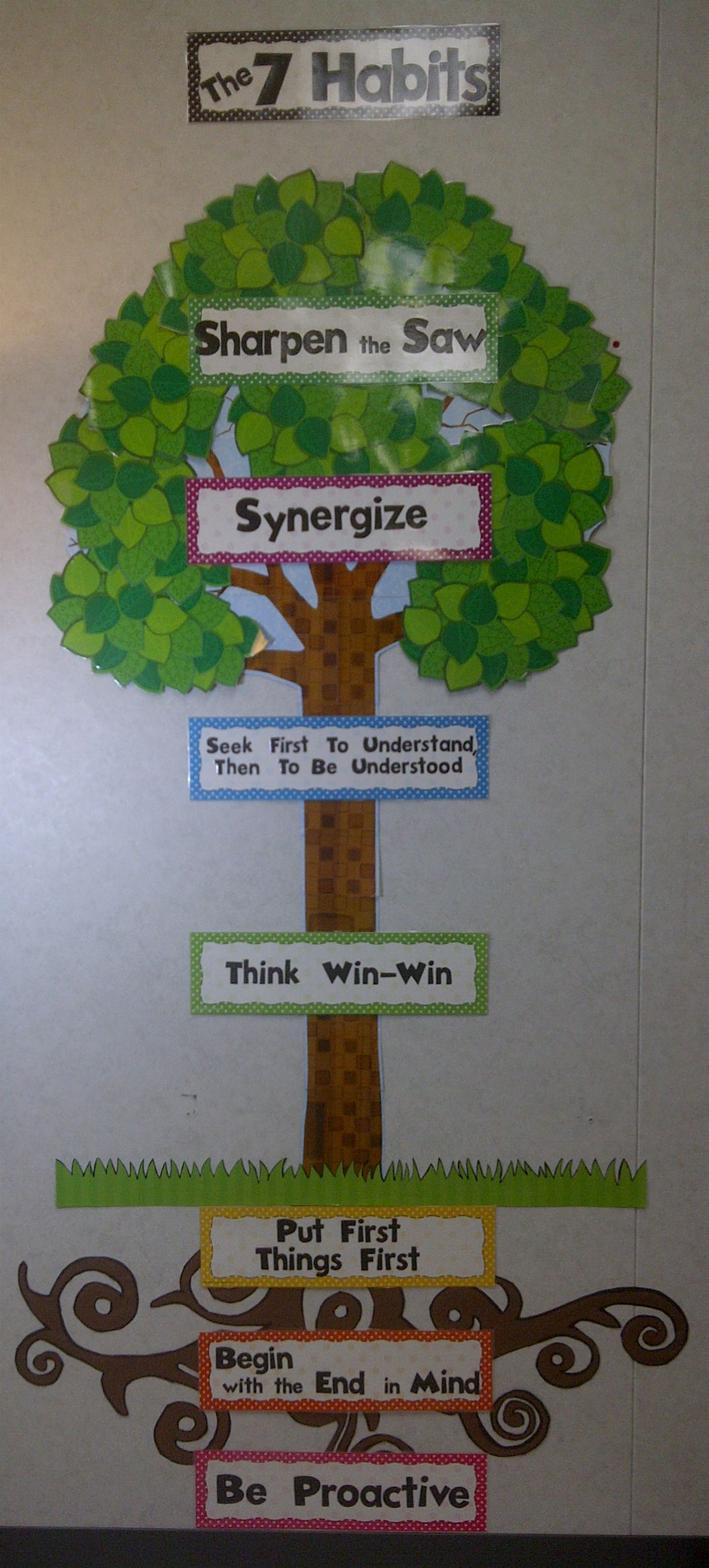 Our 7-Habits tree in RSP!! | The Leader In Me | Pinterest | Class ...