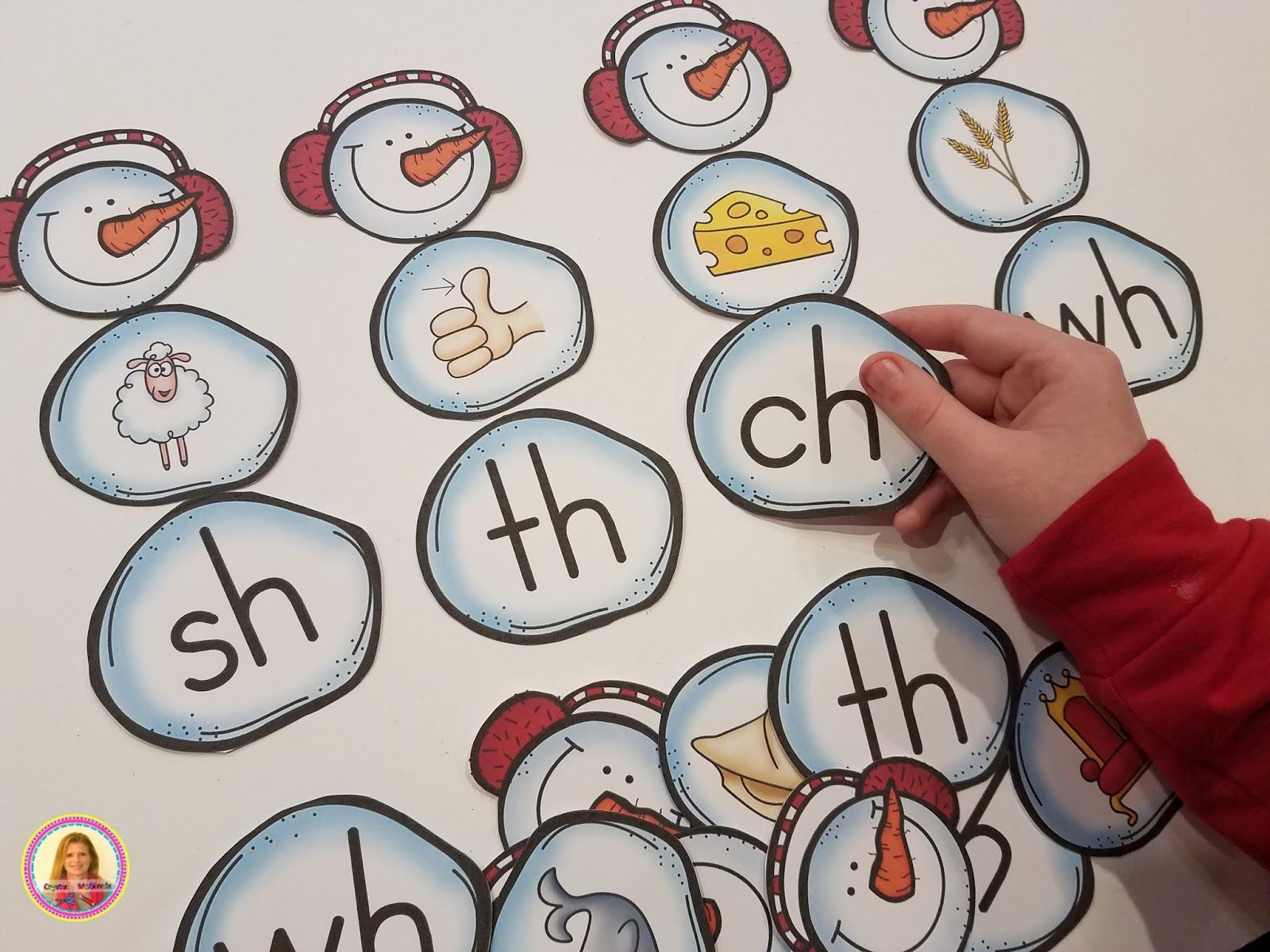 Build A Digraph Snowman Literacy Center