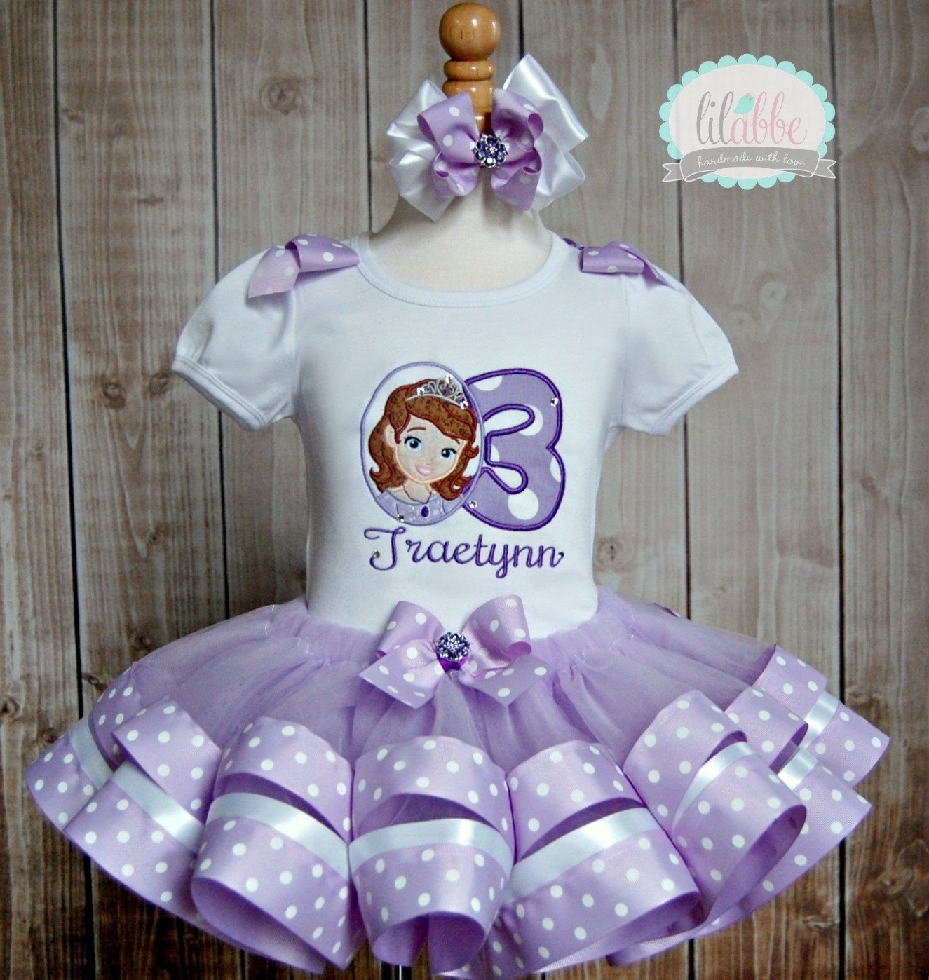 4668c6e66 sofia the first birthday party dress | Request a custom order and have  something made just for you.