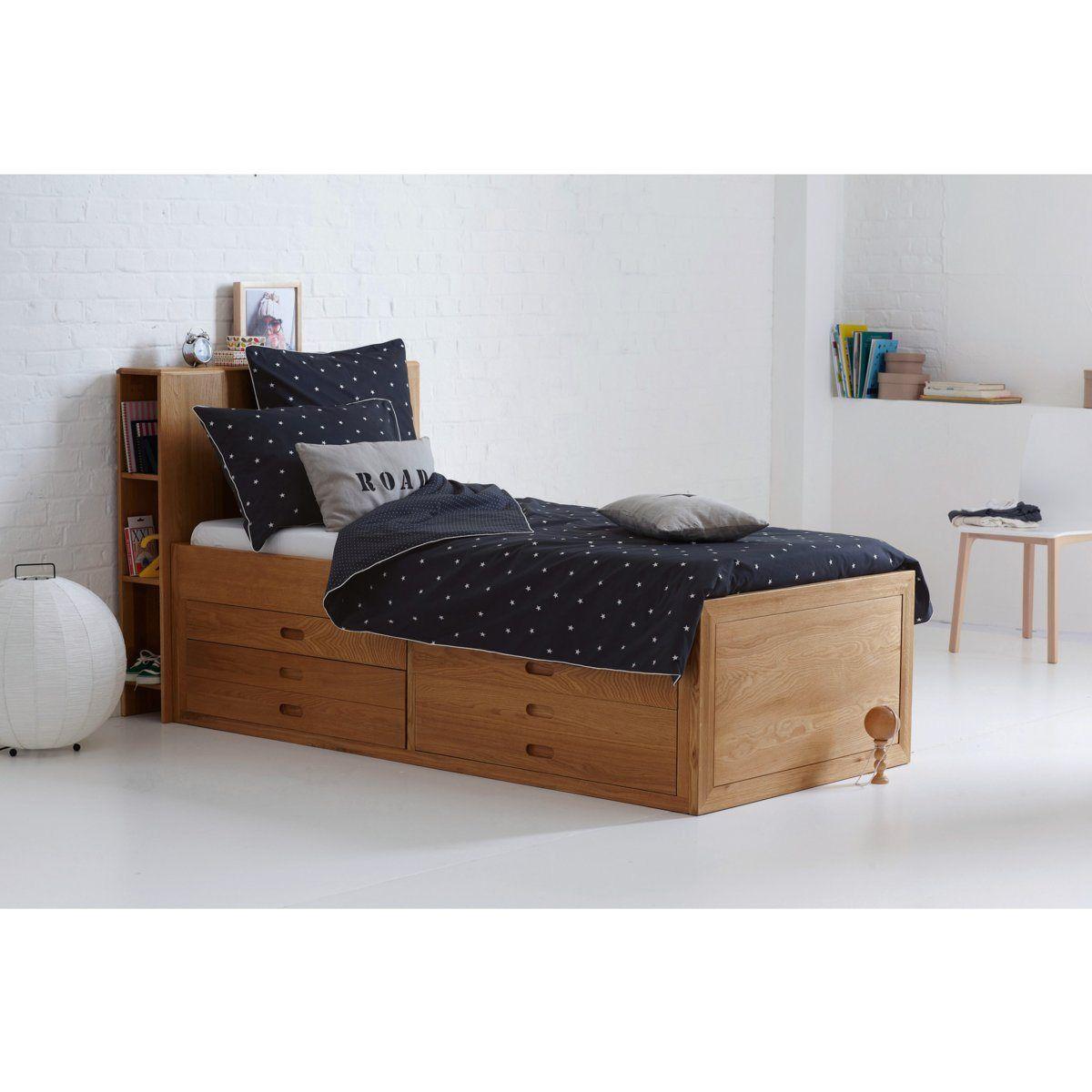 lit plateforme ch ne octavo am pm la redoute their. Black Bedroom Furniture Sets. Home Design Ideas