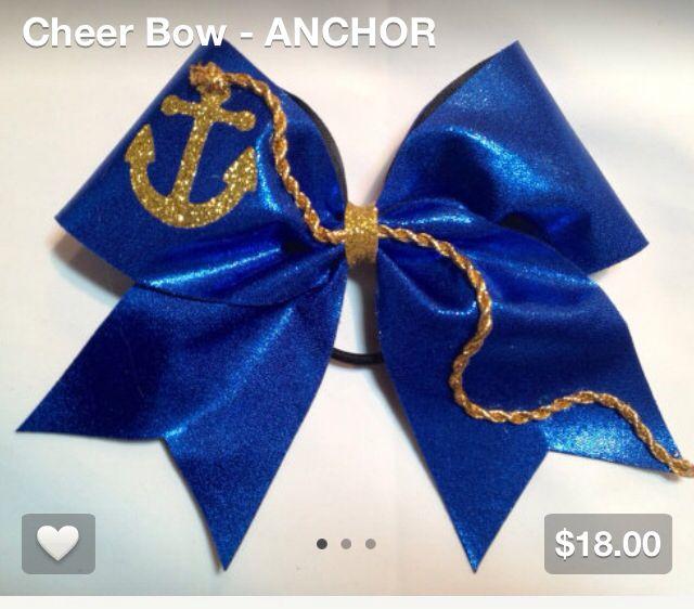 American flag cheer bow