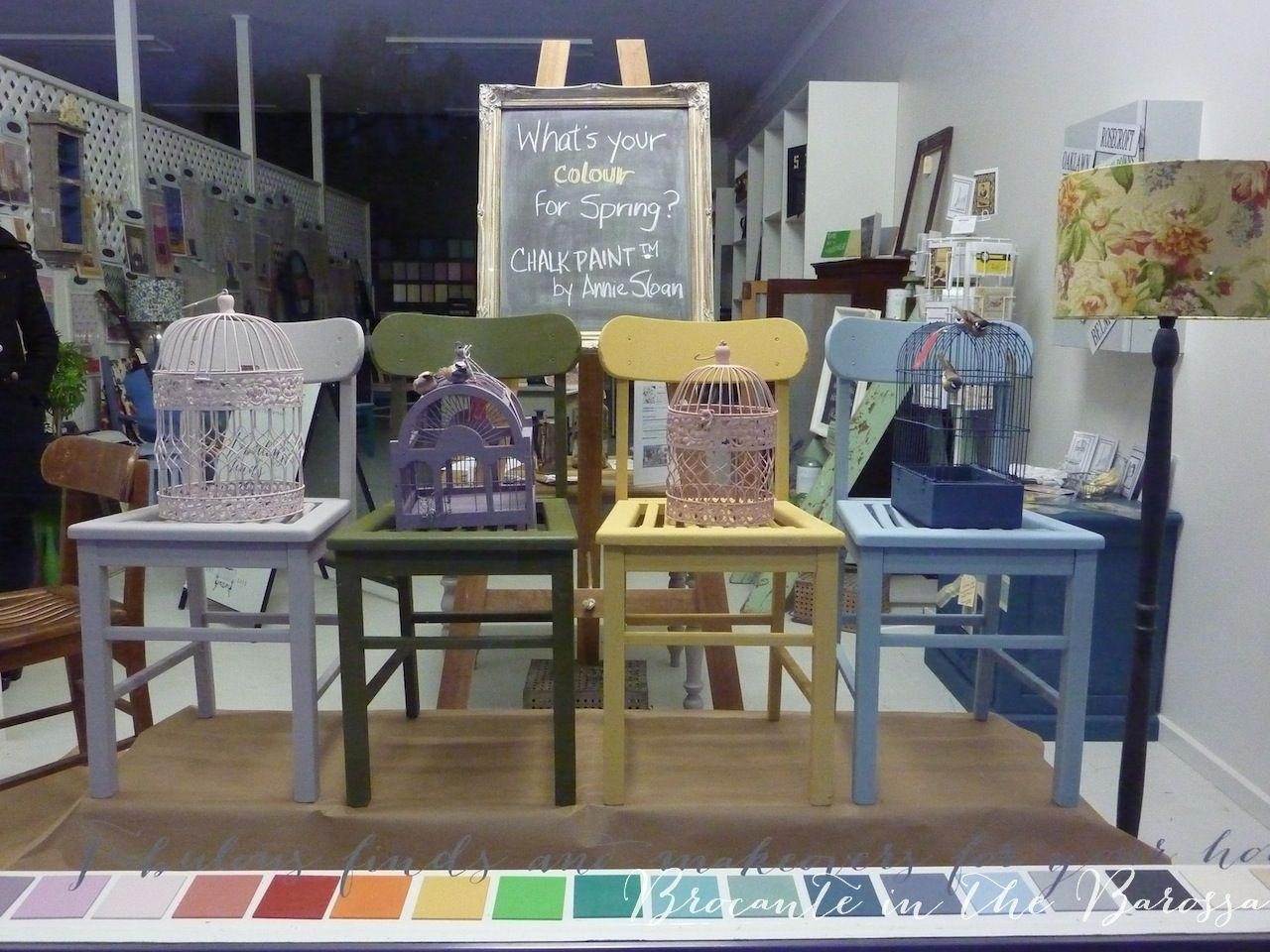 early spring window display--what's your colour for spring ...