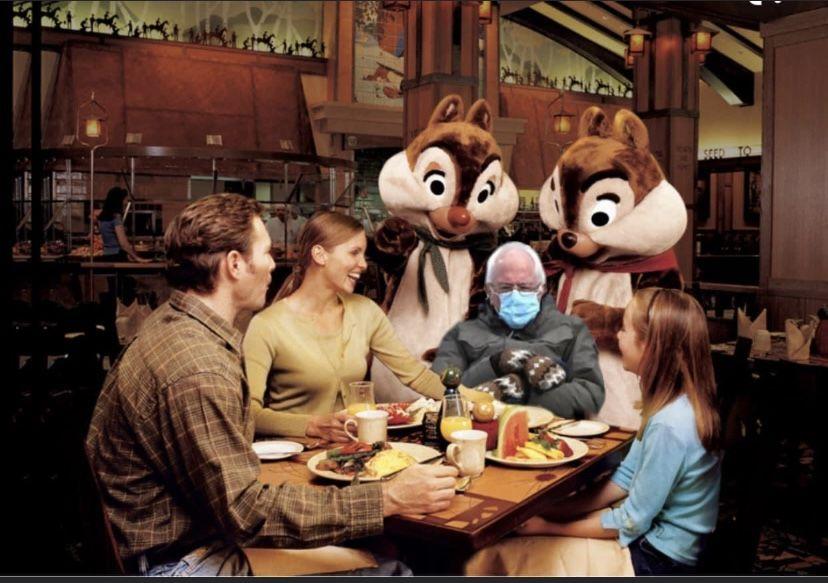 Pin By Kathy Spies On Bernie Mittens Sanders Memes In 2021 Disney Grand Californian Hotel Disneyland Vacation Grand Californian