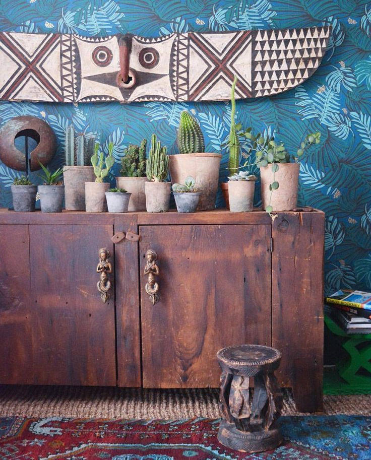 Cactus And Succulent Kind Of A Day And My African Bwa Butterfly Mask Found A Perfect Spot On Ajawallpaper By Justina Blak Decor African Home Decor Home Decor
