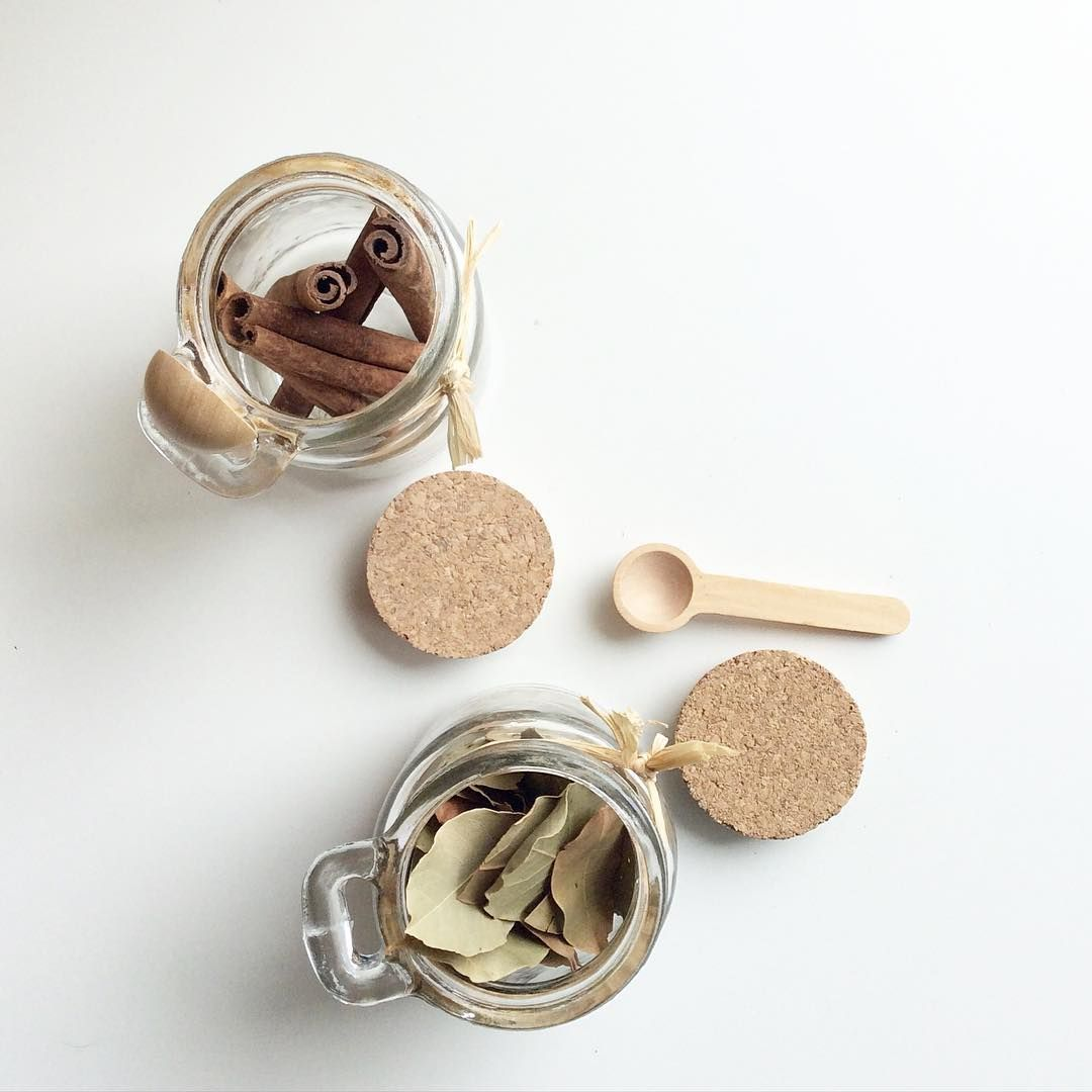 Organising my herbs and spices today  . I love our Jar with Spoon because it's made from glass,wood and cork. There's no plastic or metal and that allows  the flavours and properties stay as fresh as possible. And your storage will look amazing of course!   #homechillout #kitchen #herb #cinammon #raw #wood #cork #glass #jar #spice #decor #storage #chef #baking #cooking #cook #bake #food #foodporn #bestoftheday #instamood #follow #love Shop online ➡️www.homechillout.com [link in bio
