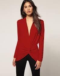 c593e3b05 Blusas de vestir rojas 2016 3   patrones blusas en 2019   Blusa ...