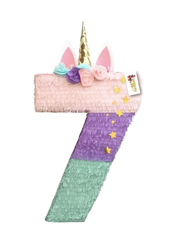 Photo of Sale! Unicorn Pinata Number Seven Shape More Numbers Available