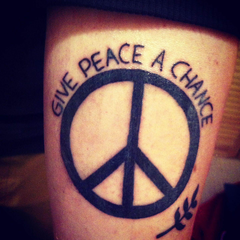 My John Lennon Beatles Tattoo Beatles Tattoos Sweet Tattoos Peace Sign Tattoos
