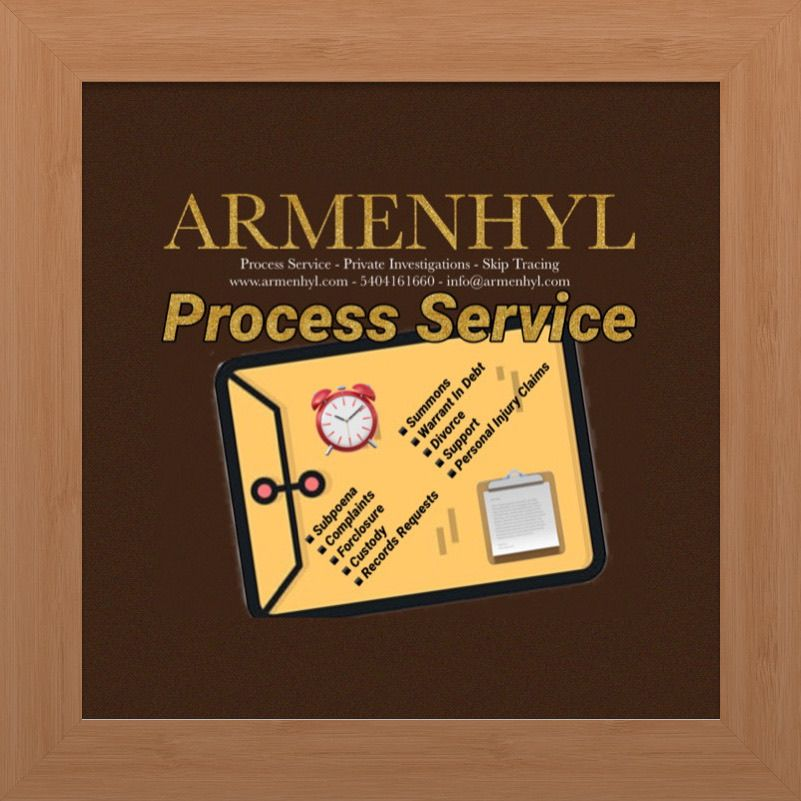 ARMENHYL Process Service for Charlottesville Virginia in