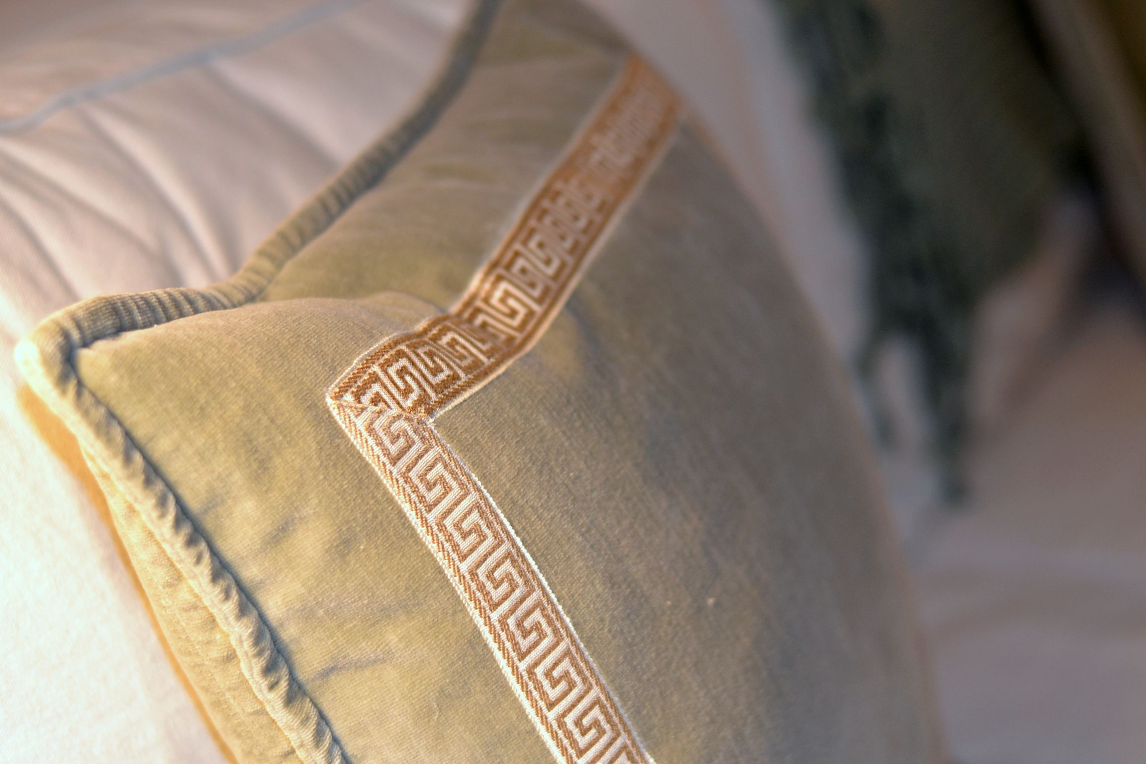Instant Update Add A Greek Key Trim To Your Pillows
