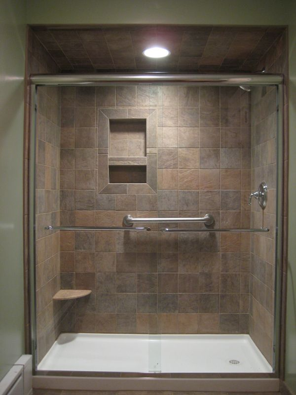 Shower Renovation bathroom remodel - tub to shower #1 | maryland bathroom remodeling