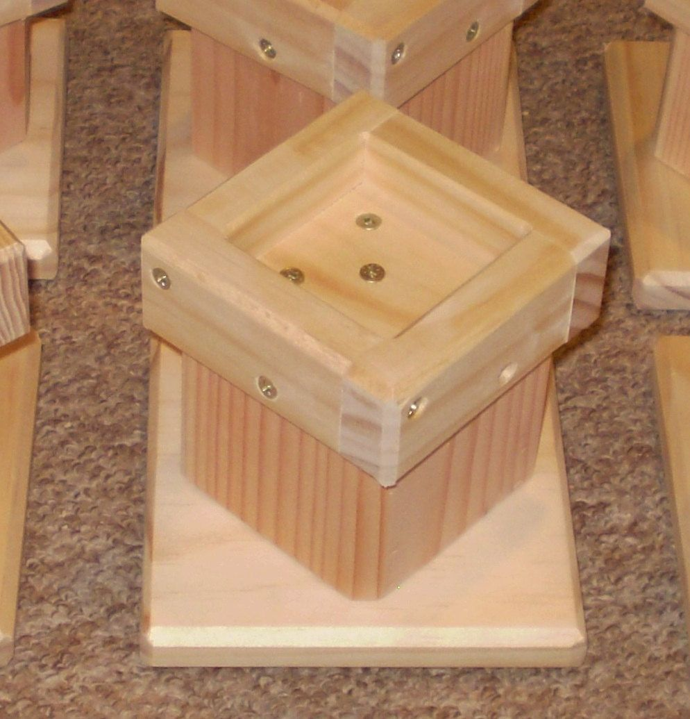 Bed Risers 4 Inch All Wood Construction Un Finished
