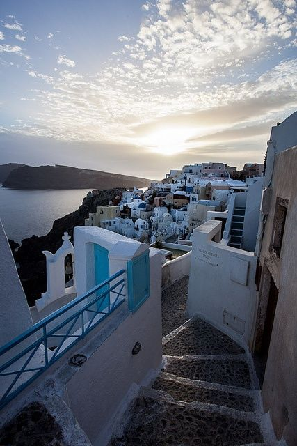 Santorini, Greece. I have been, but I want to go back and stay for a LONG time.