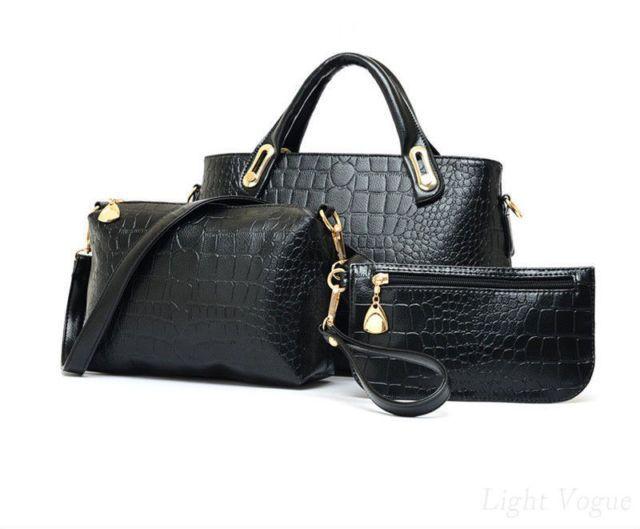 895464e6f83f Leather Handbag, Shoulder Bag, and Purse, $20 in Alligator Black ...