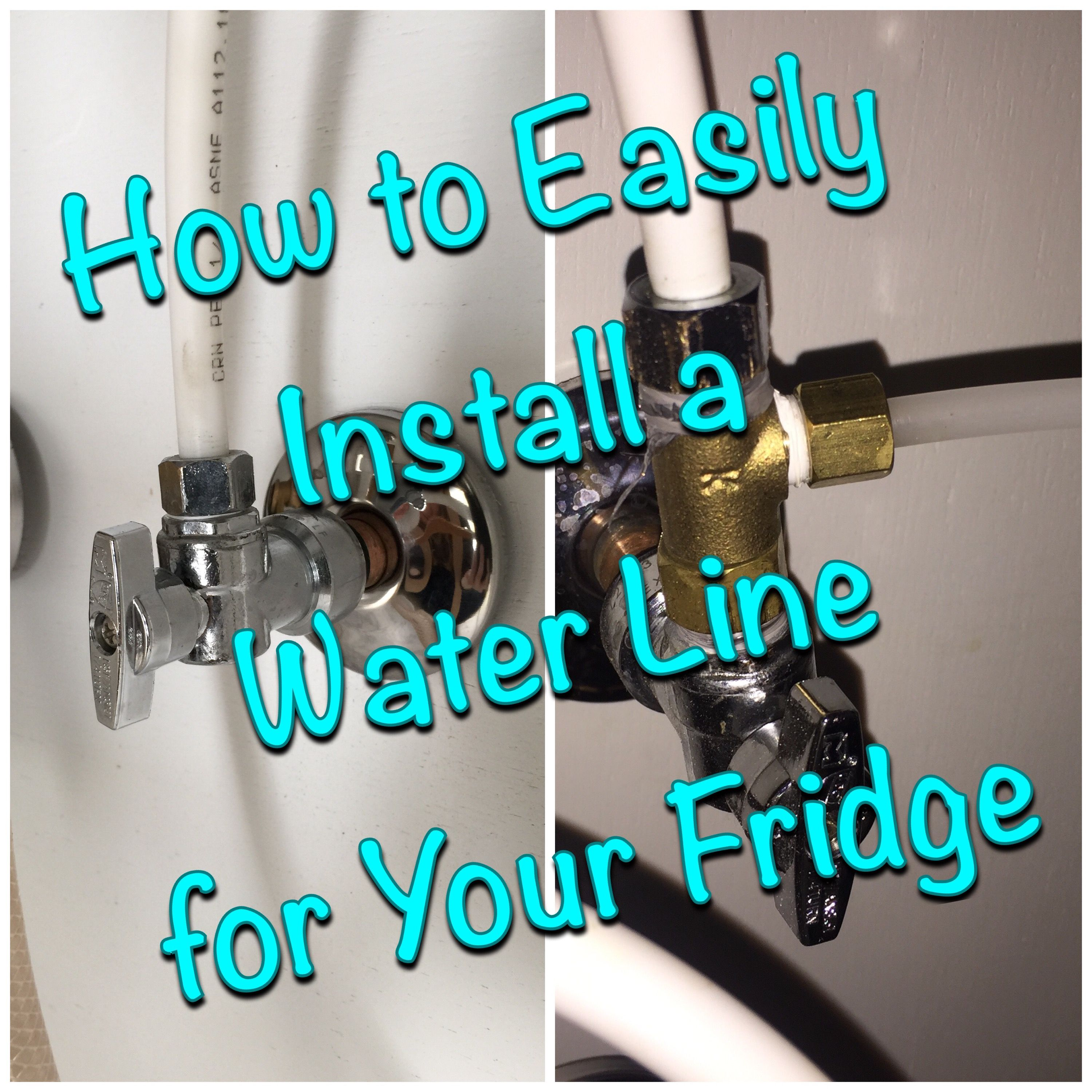 Easily Run A Water Line For Your Refrigerator Plumbing Repair Plumbing Fixtures Bathroom Water Pipes
