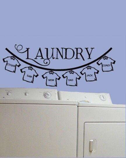 Perfect Laundry IdeaI Have My Childrens Handprints Above Mine - Wall decals laundry room