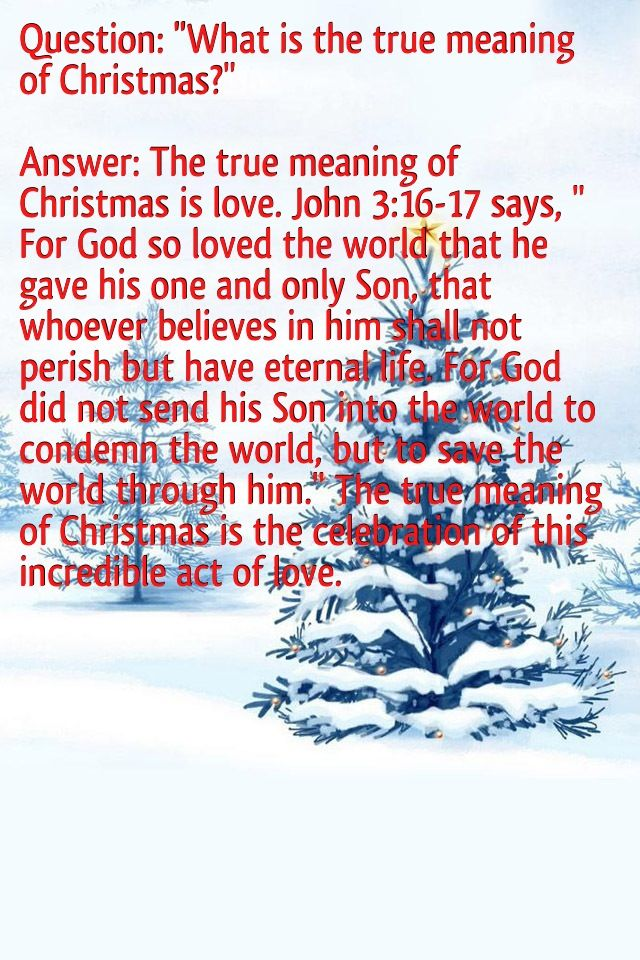 True Meaning Of Christmas