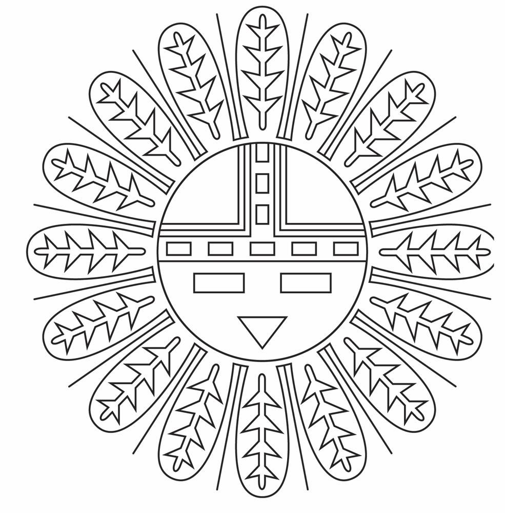 Native American Indian Coloring Pages Az Coloring Pages Mandala Coloring Pages Native American Symbols Native American Patterns
