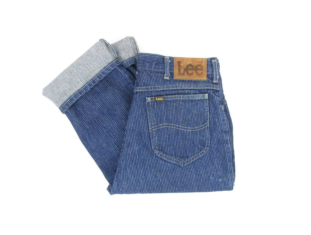 striped Vintage jeans pin