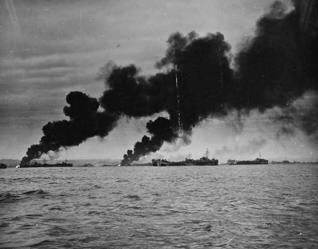 Japanese Planes Shot Down In Attack On Okinawa Invasion Fleet
