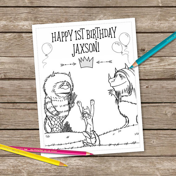 Where The Wild Things Are Coloring PagesWild Printable Birthday Perso