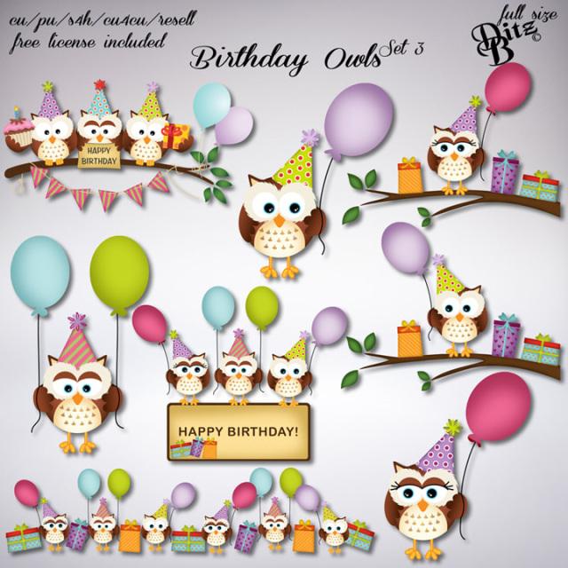 3 Ply Lunch Napkins Happy Birthday Owl Pal Birthday Case Of 192